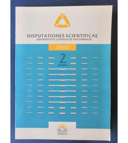 DISPUTATIONES SCIENTIFICAE - 2/2010